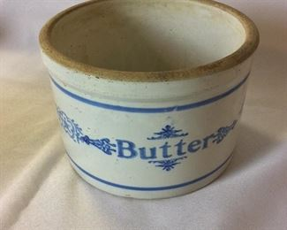 """Butter Dish, 5"""" H."""