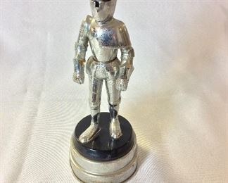 "Knight in Armor Cigarette Lighter / Music Box, 8 1/2"" H."