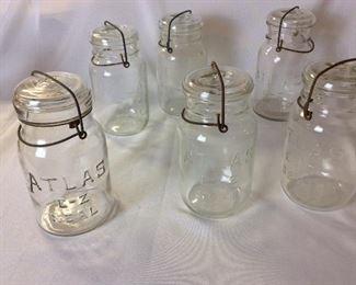 Atlas E-Z Seal Jars.