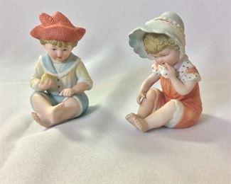 "Porcelain Children, 4"" H."