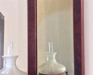 """Wood Framed Mirror, 22"""" x 32""""."""