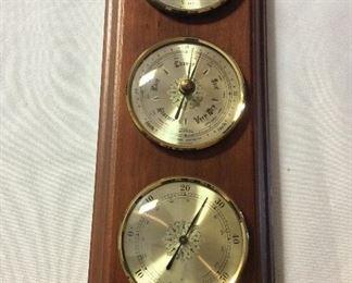 """Huger Precision Barometer, West Germany, 14 1/2"""" L."""