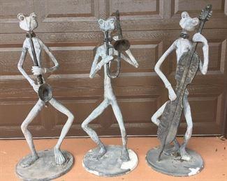"Musical Trio Statuettes, 48"" H."