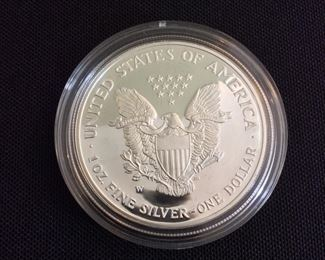 2002 American Eagle One Ounce Silver Proof Coin.