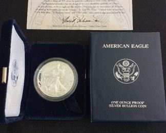 2003 American Eagle One Ounce Silver Proof Coin.