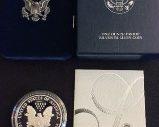 2004 American Eagle One Ounce Silver Proof Coin.