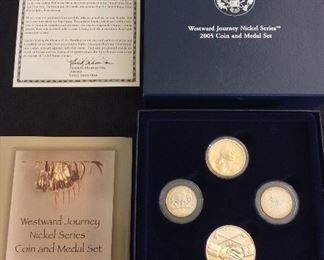 Westward Journey Nickel Series Coin and Medal Set.