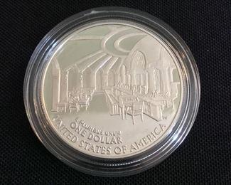 2005 Chief Justice John Marshall Proof Silver Dollar.