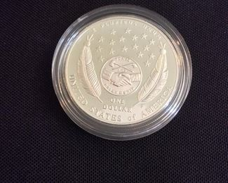 2004 Lewis and Clark Bicentennial Proof Silver Dollar.