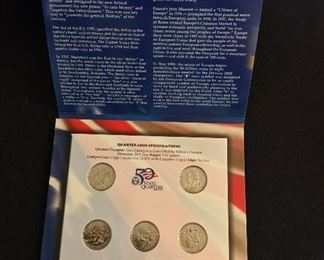 The 50 State Quarters & Euro Coin Collection.