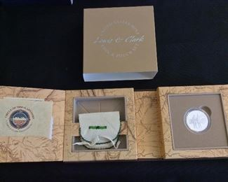 Lewis & Clark Coin & Pouch Set (Crow Tribe, MT).