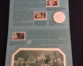 Benjamin Franklin Coin & Chronicles Set.