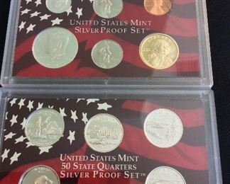 2005 S United States Mint Silver Proof 11-Piece Set.