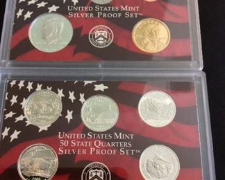 2006 S United States Mint Silver Proof 10-Piece Set.