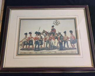 "Scottish Highlanders Military Print, 22"" x 17""."