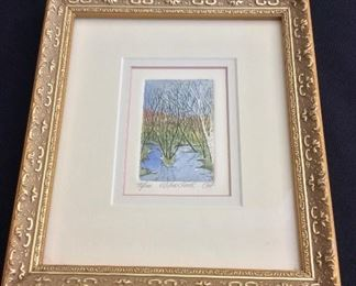 """Willow Creek Signed and Numbered 45/ 100, 7 1/2"""" x 8 1/2""""."""