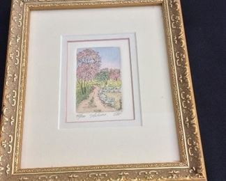 """Autumn Signed and Numbered 45/ 100, 7 1/2"""" x 8 1/2""""."""