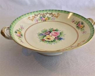 "Handled Plate, 9 1/2"" diameter."