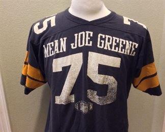 Pittsburgh Steelers Mean Joe Greene Football Shirt.