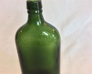 """Berry Bros & Rudd Ltd, London, England Bottle 7 1/2"""" H. """"Federal Law Forbids Sale or Reuse of this Bottle""""."""