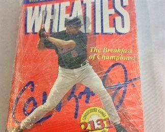 Cal Ripkin, Jr. Wheaties Box Unopened.