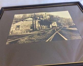 Historical Photograph Ellicott City, Maryland Train Station.