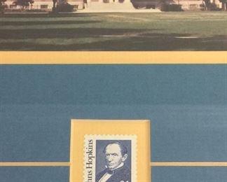 John Hopkins Photograph and Stamp.