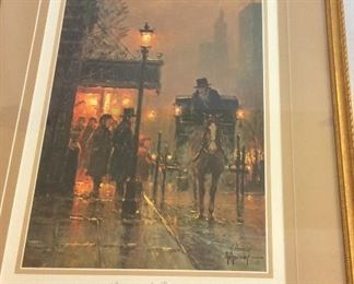"""""""Discussing the Fare"""" by G. Harvey, Signed Limited Edition and Numbered 433/1250. Somerset House Certificate of Authenticity."""