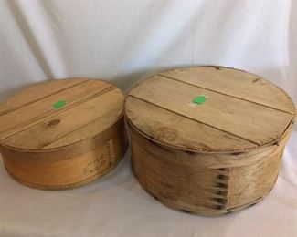 Dufeck's Circular Wooden Cheese Boxes.