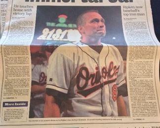 Cal Ripken Jr. 2,131 Consecutive Games, The Baltimore Sun.
