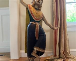 South Asian Carved Dancer