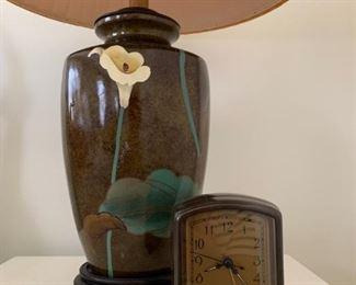 Vintage Lamp, Pottery Barn Clock