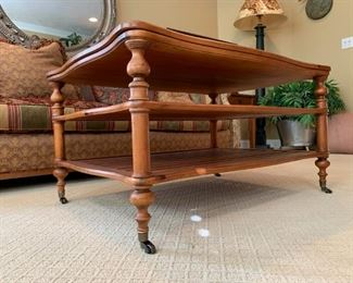 Fremarc Three Tier Coffee Table on Casters
