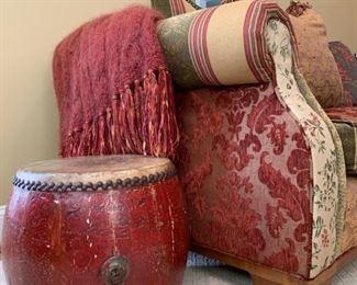 Antique Drum, Handmade Throw