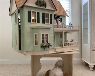 Custom Doll House with Swivel Base
