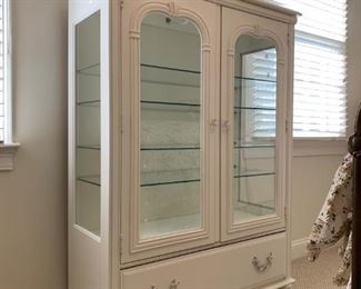 Vintage Display Cabinet with Glass Shelves