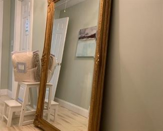 Oversized Mirror with Carved Giltwood Frame