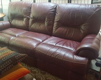 $150 Burgandy Leather Sofa.