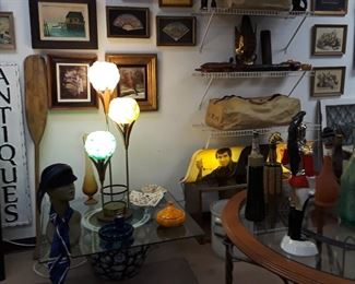 Mid-Century Modern Lamps, Decanters