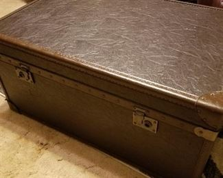 Coffee Table Trunk and Two Matching Nightstands