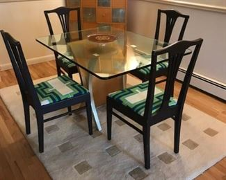 Custom dining room table 1980's. Paine Furniture Co of Boston Mass 1930's chairs sold separately.