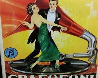 tbs vintage Italian Grafofoni Columbia poster