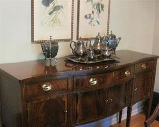 James River Plantation Satinwood Inlaid Sideboard  by Hickory Chair.