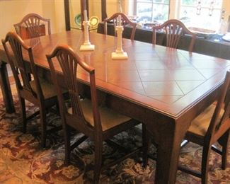 Dining Table with six Chairs.