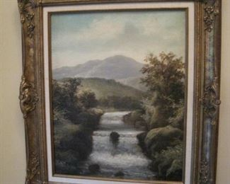 A pair of Oil Paintings by Listed Artist Roberto Marshall.
