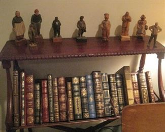 Book Stand. Franklin Mint Books. Wood Carvings.