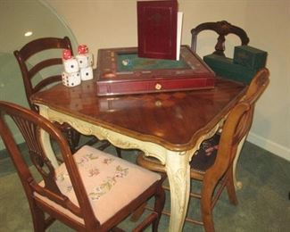 Game Table and Chairs.