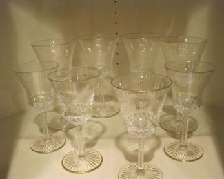 St. Louis Crystal Glasses.