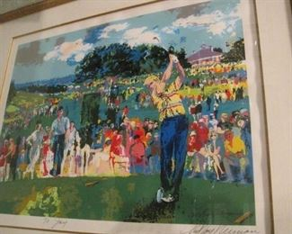 Leroy Neiman signed serigraph.