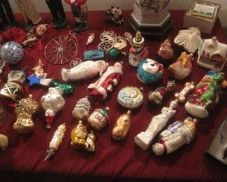 Radko and other ornaments.